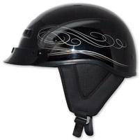 Zox Alto Custom Boulevard Silver Half Helmet