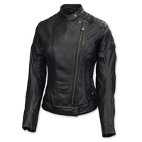Roland Sands Design Riot Ladies Black Leather Jacket