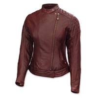 Roland Sands Design Riot Ladies Oxblood Red Leather Jacket