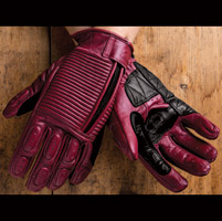 Roland Sands Design Gezel Ladies Oxblood Red Leather Gloves