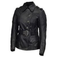 Roland Sands Design Oxford Ladies Black Leather Jacket