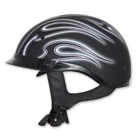 Zox Roadster DDV Dante Matte Silver Half Helmet