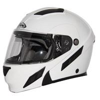 Zox Brigade SVS White Modular Helmet