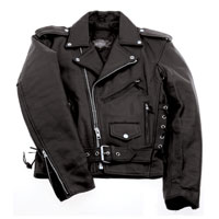 Interstate Leather Men's Basic Biker Jacket