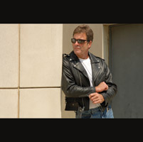 Interstate Leather Men's Tall Ryder Black Leather Jacket