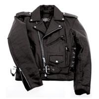Interstate Leather Men's Tall Ryder Black Leather Jacket