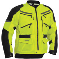 Firstgear Adventure Mesh DayGlo Yellow/Black Jacket