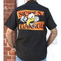 Sick Boy Vulture Black Work Shirt