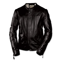 Roland Sands Design Men's Barfly Perforated Black Leather Jacket