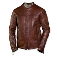 Roland Sands Design Men's Barfly Perforated Tobacco Leather Jacket