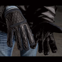 Roland Sands Design Men's Peristyle Black Leather Gloves
