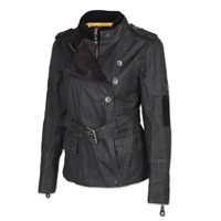 Roland Sands Design Women's Vex Charcoal Textile Jacket
