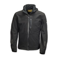 Roland Sands Design Men's Quest Hooded Softshell Black Jacket