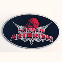 Sons of Arthritis 3″X5″ Skull Patch