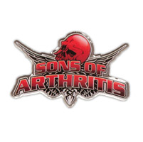 Sons of Arthritis Skull Lapel Pin