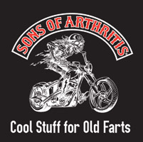 Sons of Arthritis 5″X5″ Bad Biker Sticker