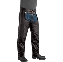 River Road Men's Plains Black Leather Chaps