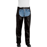 River Road Women's Plains Black Leather Chaps