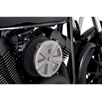 Vance & Hines VO2 Skullcap Crown Air Cleaner Insert Matte Chrome