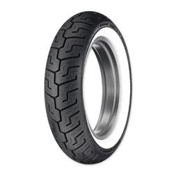Dunlop D401 150/80B16 Wide Whitewall Rear Tire