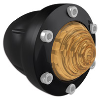 Roland Sands Design Tracker Gloss Black Front Turn Signals