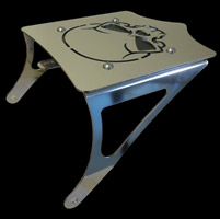 BDD Custom Polished Skull Luggage Rack for Solo Seats