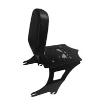 BDD Custom Black Skull Luggage Rack w/ Backrest for 2-Up Seats