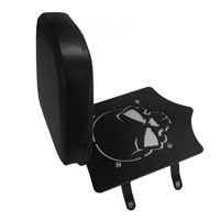 BDD Custom Black Skull Luggage Rack w/ Backrest for Solo Seats