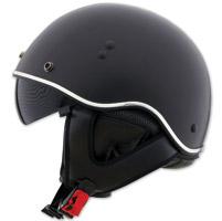 LS2 SC3 Matte Black Half Helmet