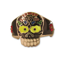 Hair Ringz Vintage Sugar Skull with Gem Stones