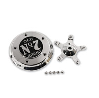 Jack Daniel's Chrome and Black 5-bolt Air Cleaner Insert