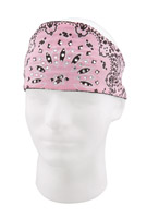 Chop Top Paisley Pink with Rhinestones Doo Wrap
