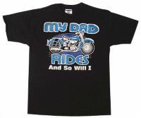 J&P Cycles® 'Dad Rides and So Will I' T-shirt