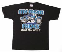 J&P Cycles® 'Mom Rides and So Will I' T-shirt