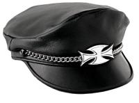 Carroll Leather Maltese Cross Riding Cap