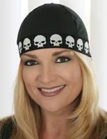 That's A Wrap COOLMAX White Skull on Black Cool Cap