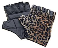 Hawg Paws Leopard 'Tan-Thru' Riding Gloves