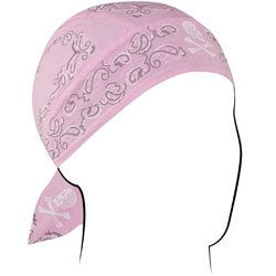 ZAN headgear Light Pink Paisley Flydanna Head Wrap