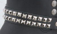 Small Stud Leather Boot Chain