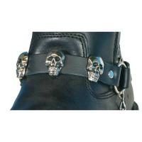 Hot Leathers Skulls Leather Boot Chains