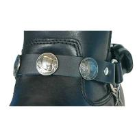 Hot Leathers Buffalo Nickel Leather Boot Chains
