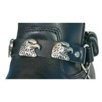 Hot Leathers Eagle Head Leather Boot Chains