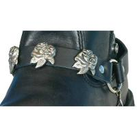 Hot Leathers Rose Leather Boot Chains