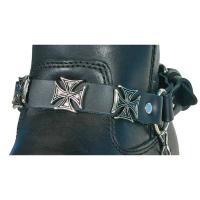 Hot Leathers Iron Cross Leather Boot Chains