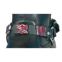 Hot Leathers Confederate Flag Leather Boot Chains