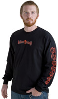 Biker Trash Men's Wicked Black Long-Sleeve T-Shirt
