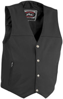River Road Men's Granite Leather Vest