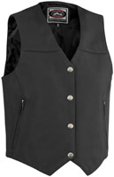 River Road Women's Granite Leather Vest