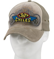 J&P Cycles® Leather Canvas Cap