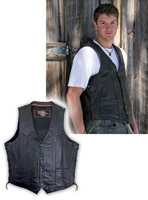 Milwaukee Motorcycle Clothing Co. Men's Breaker Black Leather Vest